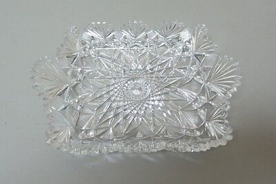 "AMERICAN BRILLIANT PERIOD (ABP) CUT GLASS 8"" TRAY, c. 1900"