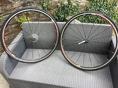 Mavic Aksium Wheelset Campagolo 10 Speed With Good Tyres Used