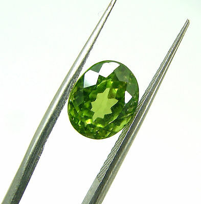 3.15 Ct Natural Oval Loose Green Peridot Gemstone Stone - 7408