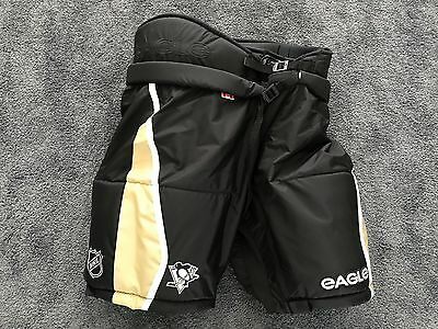 New Eagle Team Issued Pittsburgh Penguins NHL Pro Stock Hockey Player Pants M 50