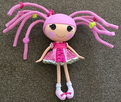 """Large LALALOOPSY 12"""" Pink Spaghetti Hair Doll - Excellent Condition"""