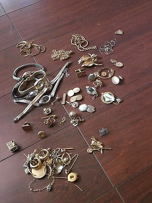 203 Grams Gold Filled Rolled Gold Plate Mix Jewelry Watch Scrap Lot Recovery