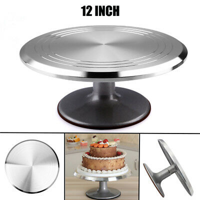 29Cm Rotating Cake Icing Deocrating Revolving Kitchen Display Stand Turntable