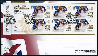 Fdc 2012 Baillie Stott Gold Medal First Day Cover London Olympic Games