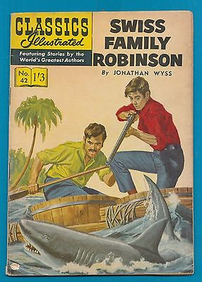 Classics Illustrated Comic # 42 Swiss Family Robinson   #819
