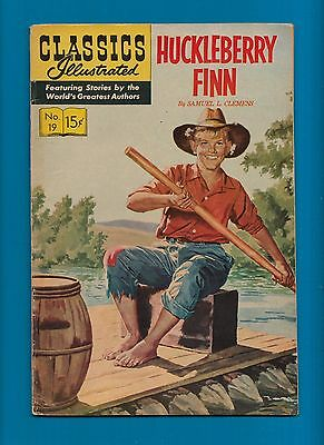 Classics Illustrated Comic Book 1945 Huckleberry Finn #19  #605