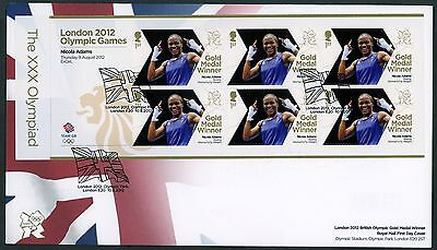 Fdc 2012 Nicola Adams Boxing Gold Medal  First Day Cover London Olympic Games