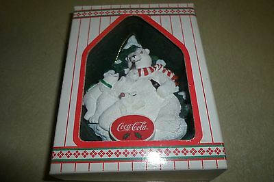 Heritage Collection Coca Cola Always Family Dad with Cubs Polar Bears Ornament