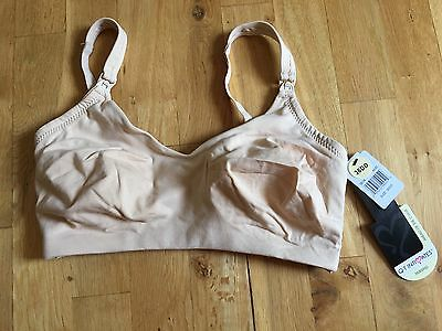 NWT 36DD Nursing/Maternity Bra, Wireless, Nude