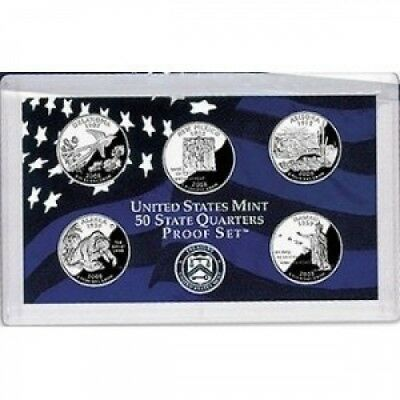 2008-S US Mint Proof State Quarter 5-coin Set With Box and COA. smyrnacoin