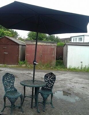 Patio Set Garden Table And Chairs With Parasol