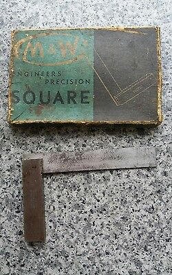 "Vintage Moore & Wright 3"" Engineers Square NO400 BS939  Tools"