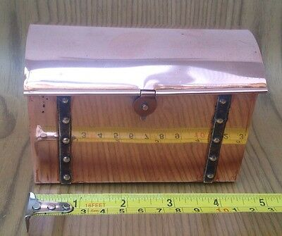 Small Copper Metal Chest Like Container, 12cm X 8cm X 8cm