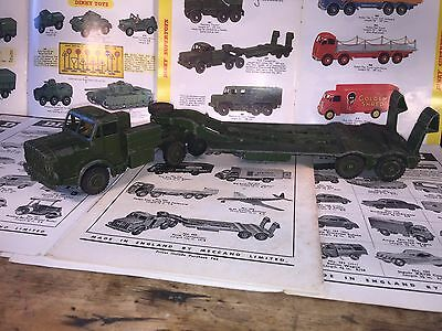 Dinky Toy by Meccano No 660 Thornycroft Mighty Antar Tank Transporter 1956-1964