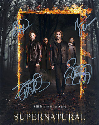 Supernatural FINAL Series Hand Signed Cast Of All 4 10x8 !