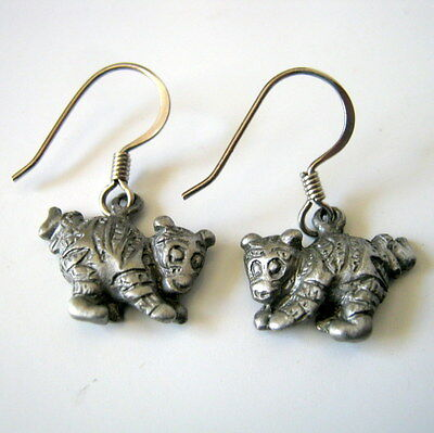 Tigger Disney Vintage Mini Pewter Earrings, Fashion Jewelry, Kid's Jewelry