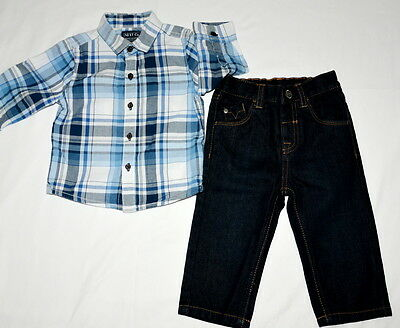 Next Tu Baby Boys Shirt Jeans Trousers - 9-12 Months