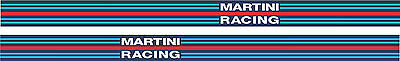 Exterior Vinyl Decals Martini Racing Side Stripe Style Tape Various Widths