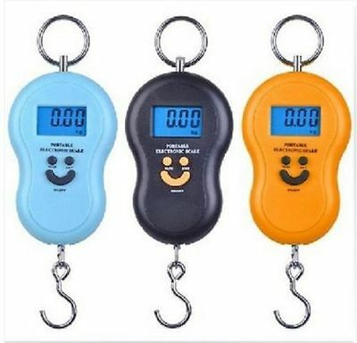 Digital Portable Electronic lcd Hook Scale Hanging Luggage Weight SCALE 10g/50kg