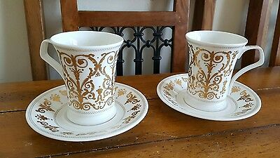 Dunoon Cherry Denman Cellini Cups and Saucers x 2