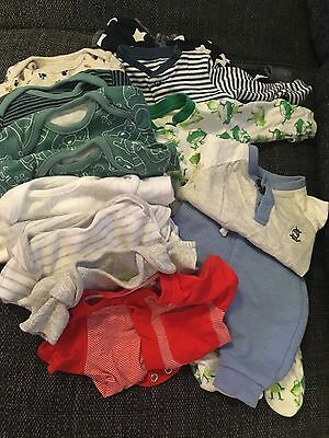 Baby Boy Bundles Up To 1 Month (13 Items) Vests Sleepsuits Outfits