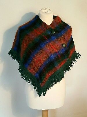 Vintage poncho cape Childs Strathtay Wool Mohair