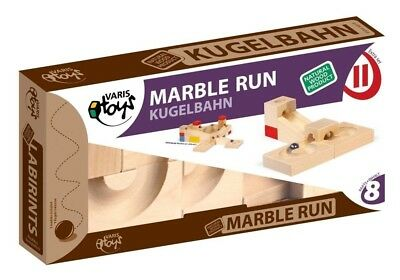 Varis Marble Run Extension Set Wooden Toy For  .  -5 (Made in Europe). KSM Toys