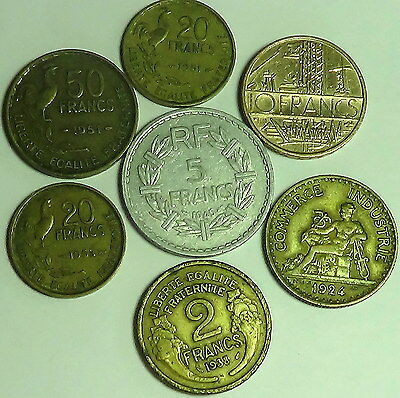 FRANCE  Lot of 6 nice old coins! (594)
