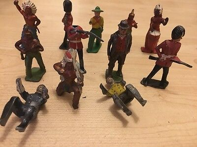 Lead Figures Indian Soldiers And Others X 12