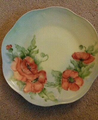 decorative wall plate, poppies