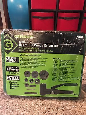 "New GreenLee 7906SB Quick Draw 90 Hydraulic Punch Driver Kit 1/2"" to 2"""