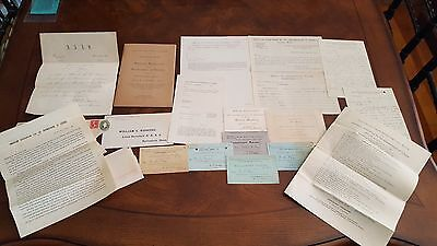 American Association for the Advancement of Science 1884-1898 LOT Letters, etc
