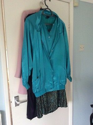 3 Piece Outfit vintage 1980s pleated skirt ,Jacket And Top