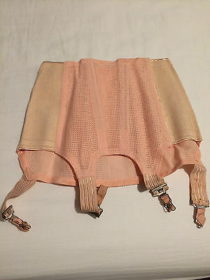 WW2 Pattern ATS, WAAF, WRNS Etc Corset In Pink Dated 1952 - Size 1