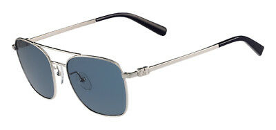 Salvatore Ferragamo Men's Silver Aviator Sunglasses SF158S 045 Made In Italy
