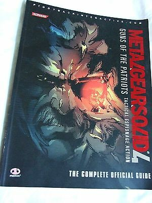 Metalgearsolid 4 Guns of Patriots - the complete official guide paperback