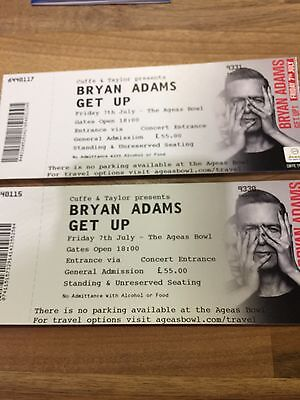 Bryan Adams Tickets (2 Tickets) For 7th July