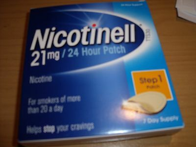 NICOTINELL 21mg /24hour patch x 4 boxes