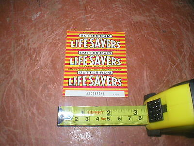 Rare 1960's Life Savers Butter Rum Candy Wrapper Original Unused