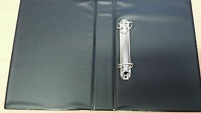 A5 2 x D Ring Binder PVC Black with Clear Slip Front Cover 160mm x 230mm