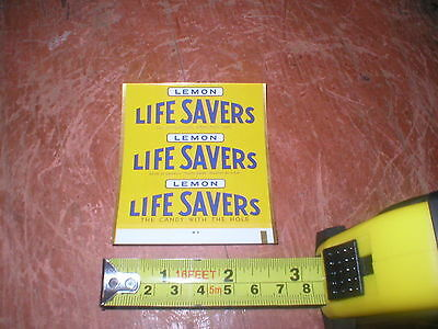 Rare 1960's Life Savers Lemon  Candy Wrapper Original Unused