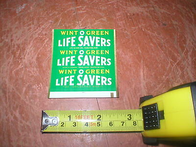 Rare 1960's Life Savers Wintogreen Candy Wrapper Original Unused