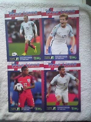 Free Lions England 2016 Euros 4 issues