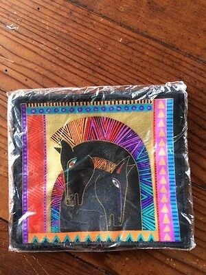 New Vintage– LAUREL BURCH – Black Zipper Pouch Cosmetic Bag (Horse Equine)