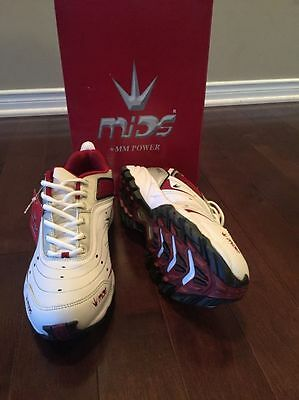 MIDS +MM Power Cricket Shoes - Red/White Color   - Size US 8