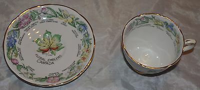 Royal  Stafford Floral Emblems of Canada Tea Cup and Saucer