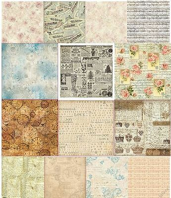 Rice paper 50x50cm. MUSIK. TEXT. Decoupage. scrapbooking. STAMPERIA