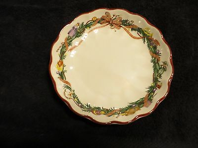 "Spode Christmas Memories Fluted Bowl 6 1/2"" Wreath  England Hard To Find"