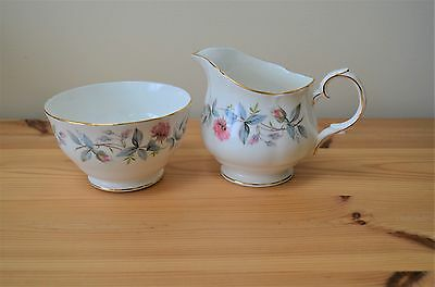 Duchess Bramble Rose Bone China Sugar Bowl Milk Jug Creamer Set