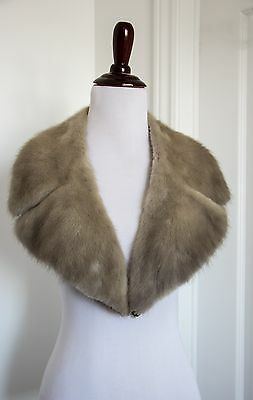 VTG Luxury Natural Mink Fur Collar Beige Excellent condition Lining for coat